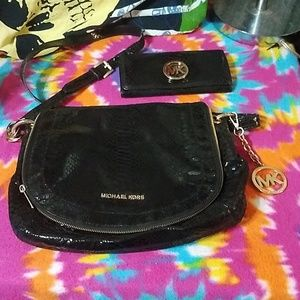 Michael Kors bag and wallet matching set